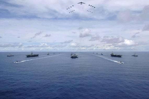 资料图:美军航母编队