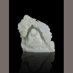 两件圆明园文物撤拍 白玉雕罗汉图山子拍出300万