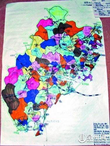 高中手绘地图大赛作品