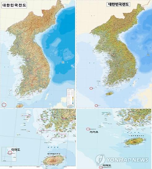 韩国将公布新版地图准确标记韩日争议岛屿(图)